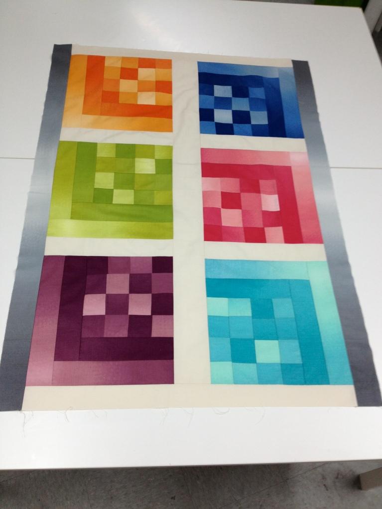 The Technicolor quilt, front