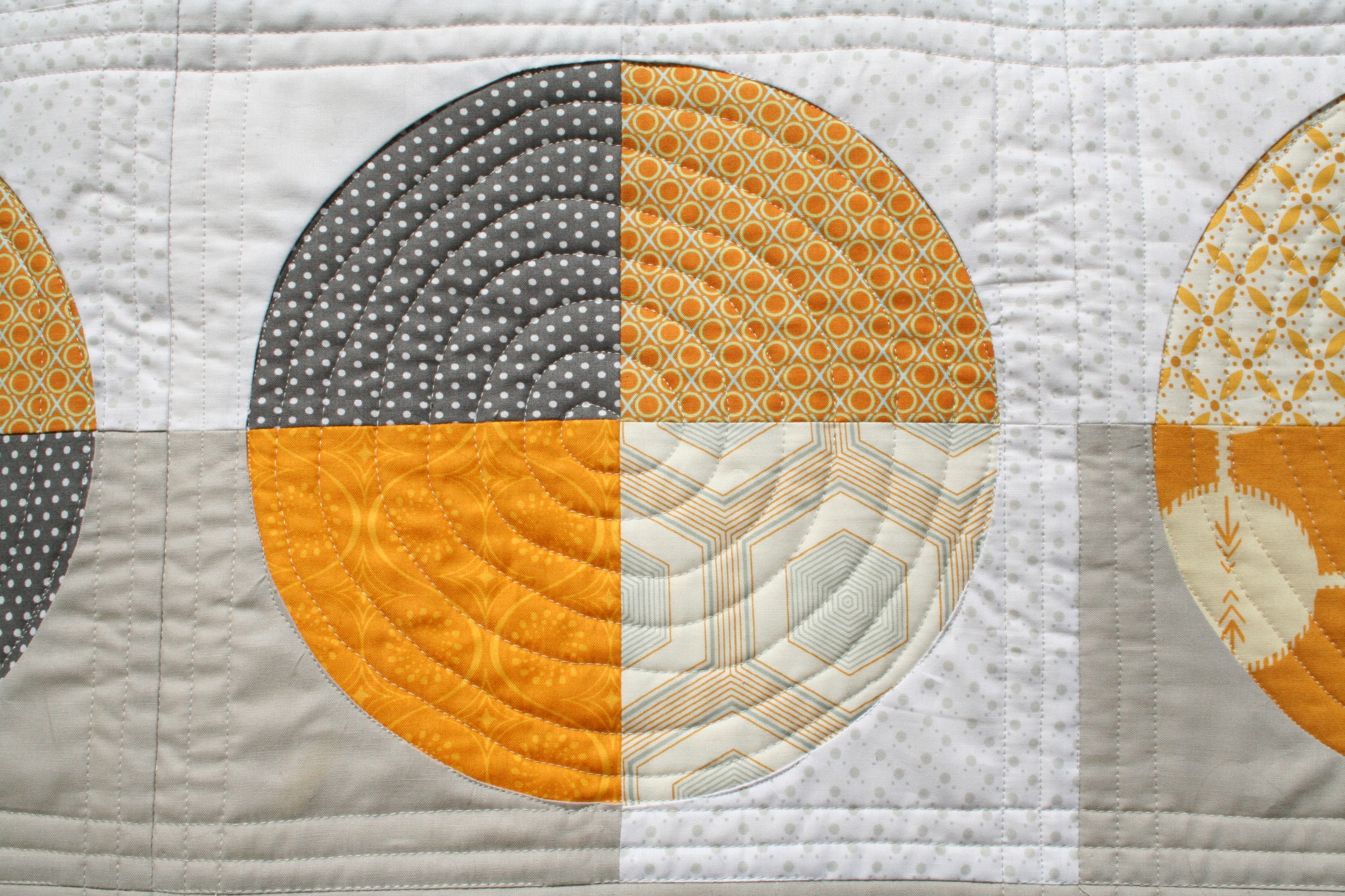 Brand-new You Are My Sunshine quilt (formerly the gold and gray quilt  BH22