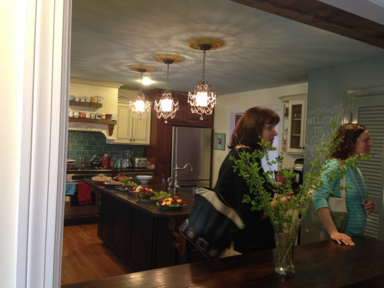 Chandeliers in the kitchen