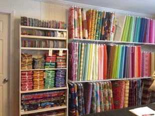 The fabric room-- I think the MQG nearly cleared this out!