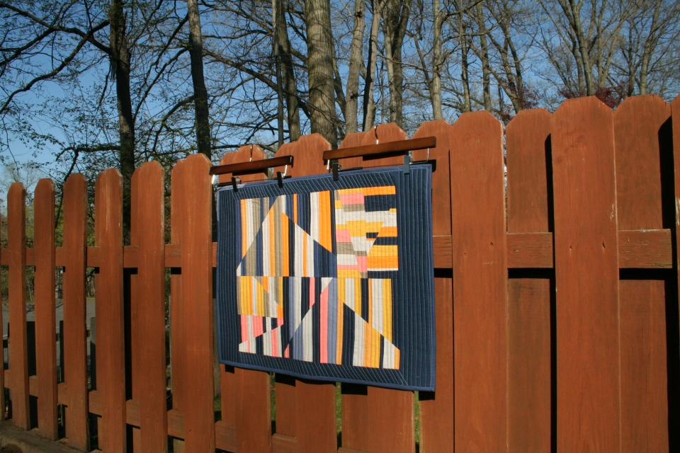 The Aerial quilt with Fence